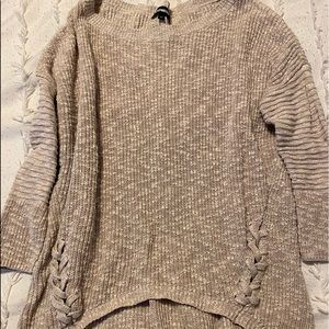 Size medium tan color hi- lo express sweater